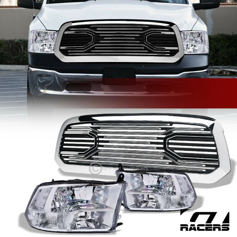 Ad Ebay For 2013 2019 Dodge Ram 1500 Chrome Quad Headlights Nb Big Horn Style Grille Dodge Ram 1500 Ram 1500 Dodge Ram