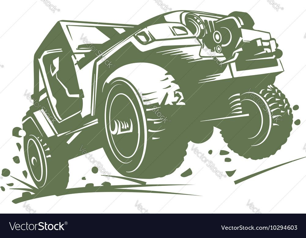 Set of classic offroad suv car emblems, badges and icons