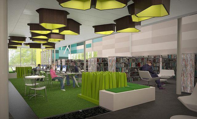 Preston Royal Replacement Library Interior Reading Garden Interior Design Awards Interior Design School Beautiful Interior Design