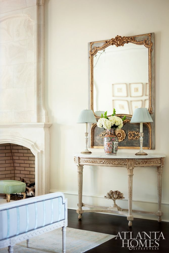 19th Century Drawing Room: An Antique 19th-century French Trumeau In The Formal