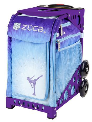 Zuca Sport Bag - Ice Dreamz with Purple Frame |  https://figureskatingstore.com/zuca-bags/ #figureskating #figureskatingstore #figureskates #skating #skater #figureskater #zucabag #zuca #zucabags #zuca #backpack #zucabackpack #iceskatebag #skatebags #ice #skatingbag #zucastore #zucabackpacks #zucaskatebag