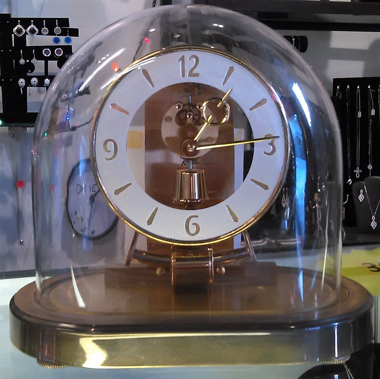 Repair of the week early obergfell table clock we replaced the vintage battery pack with an updated version