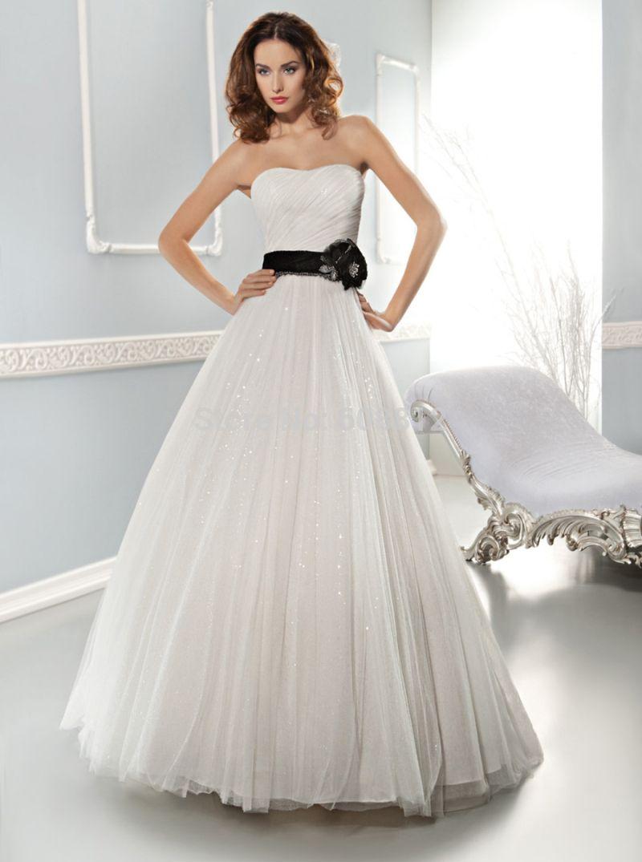 2015 New Arrival vestido de noiva tulle sweetheart sweep ...