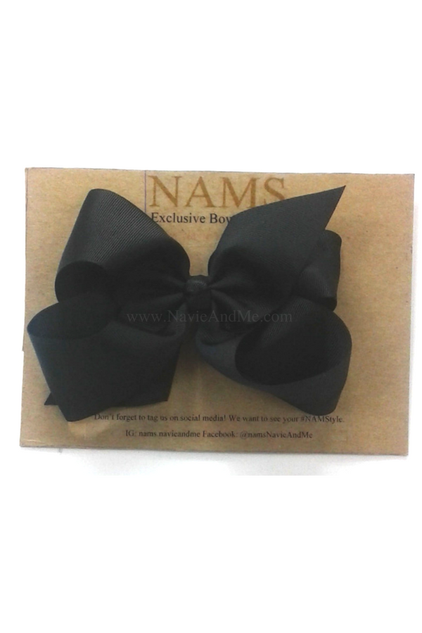 Black Boutique Bow Boutique Hair Bow Navie And Me Black Hair Bows Boutique Bows Toddler Hair Bows