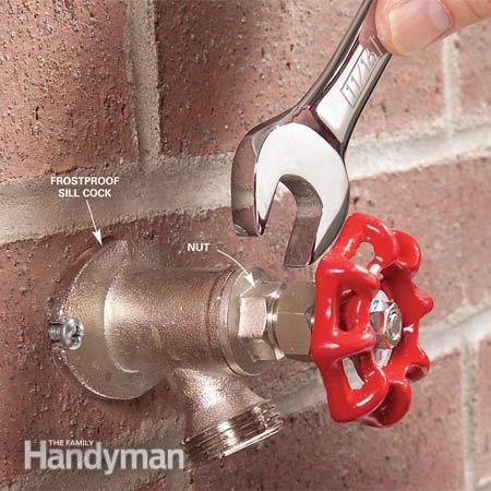 How to Repair a Noisy Outdoor Faucet | Faucet, Faucet repair and Washer