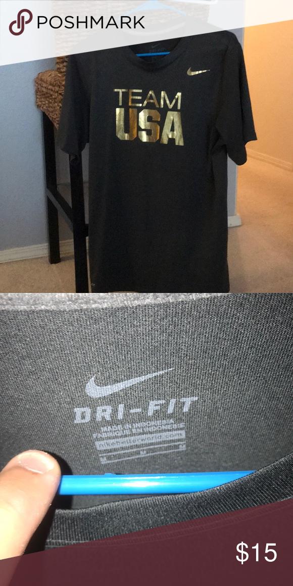 f886abba Nike team USA men's Black and gold medium t-shirt New without tag. No holes  or damage. Size medium. Dri-fit Nike Shirts Tees - Short Sleeve
