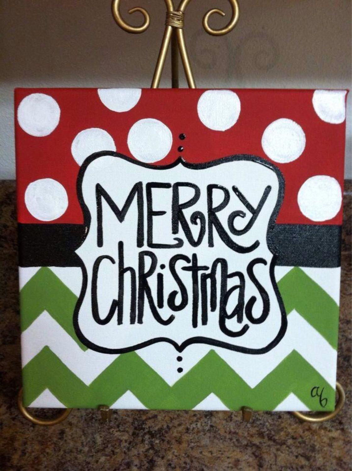 12x12 Christmas Canvases By Artbyab On Etsy Easy Enough To So At Home