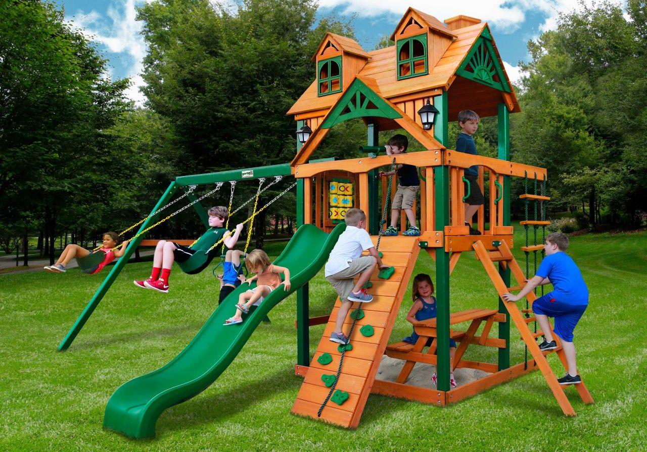 Gorilla Playsets Malibu Kids Outdoor Wooden Swingset ...