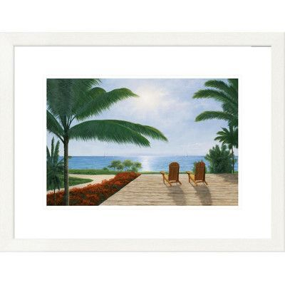 """Global Gallery 'Coastal Magic Moments' by Diane Romanello Framed Graphic Art Size: 20"""" H x 26"""" W x 1.5"""" D"""