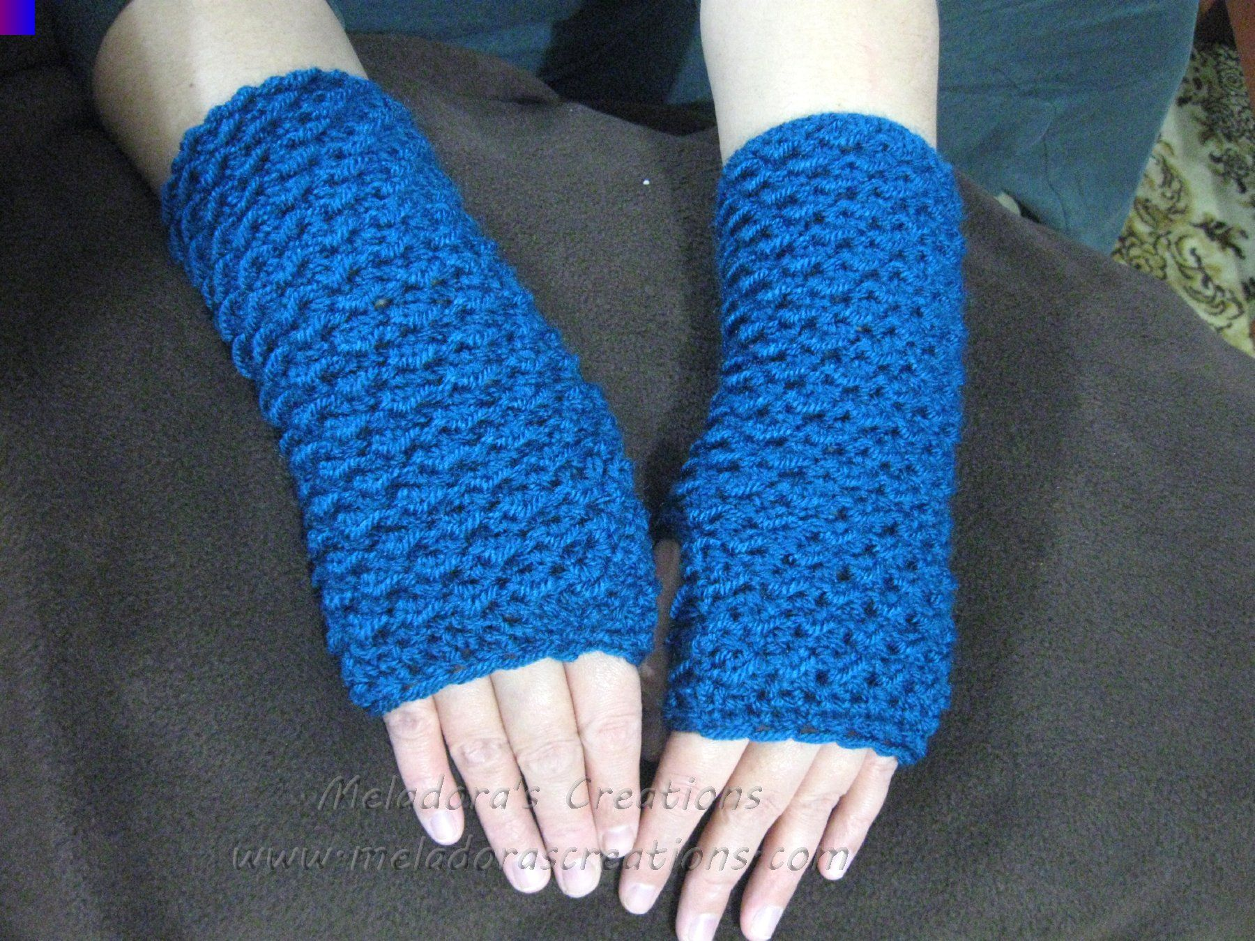 crochet tutorial moss stitch fingerless mittens
