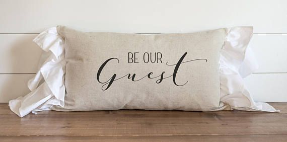 16X26 Pillow Insert Adorable Be Our Guest 16 X 26 Ruffle Pillow Cover  Everyday  Host 2018