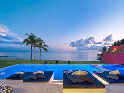 Punta mita villa rental the 22 foot pool has 4 queen sized lounge beds with water resistant - Villa reve puerto vallarta ...
