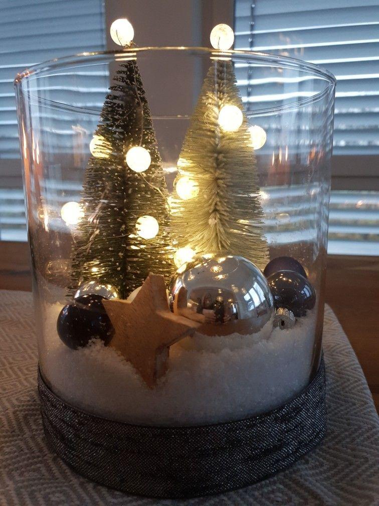 Weihachtsdeko Winterwonderland #weihnachtsdekoglas
