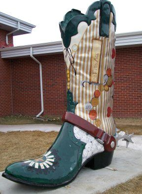 Throughout Cheyenne, Wyoming, you will find 8-foot-tall cowboy ...