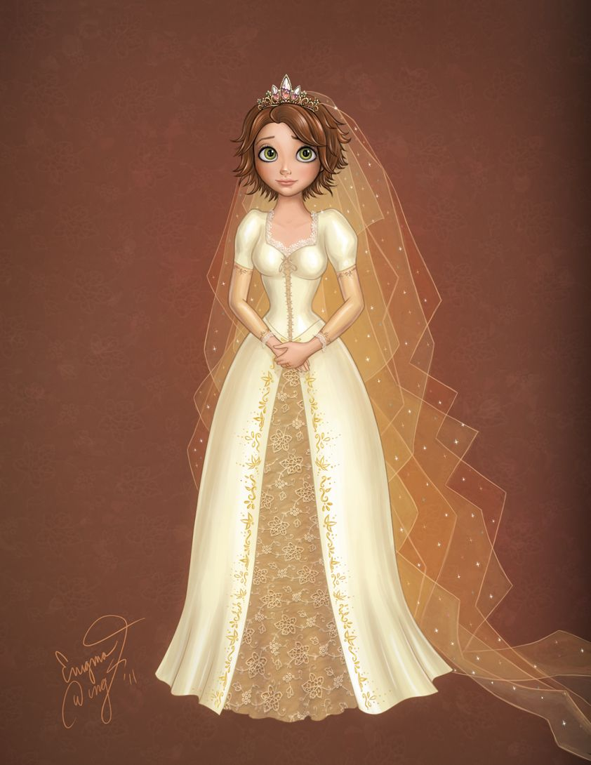 Rapunzel In Her Wedding Dress