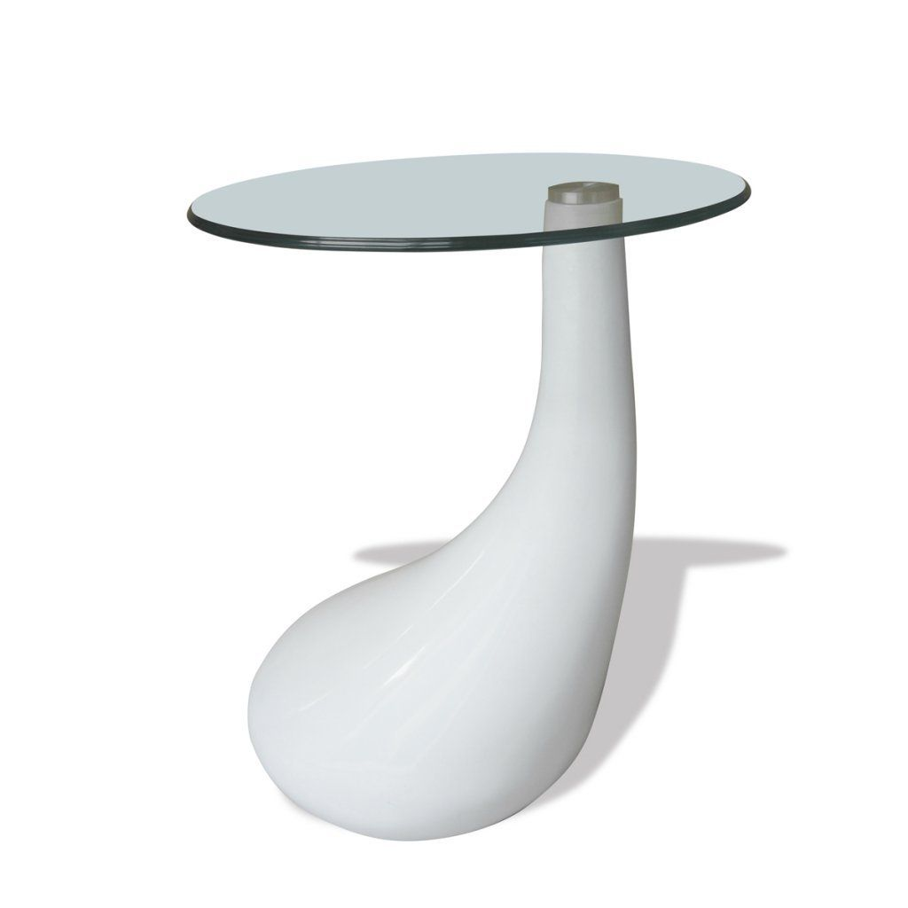 Round Shape Coffee Table Clear With Glass Top Small Coffee Table