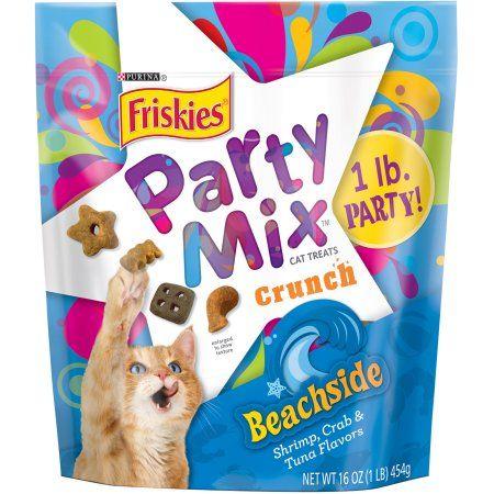 Purina Friskies Party Mix Crunch Beachside Cat Treats 16 Oz Pouch