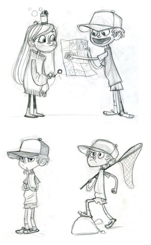 Character Design Disney : Character designs de gravity falls do disney channel