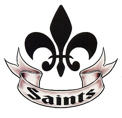 New Orleans Saints Temporary Tattoo With Fleur De Lis And