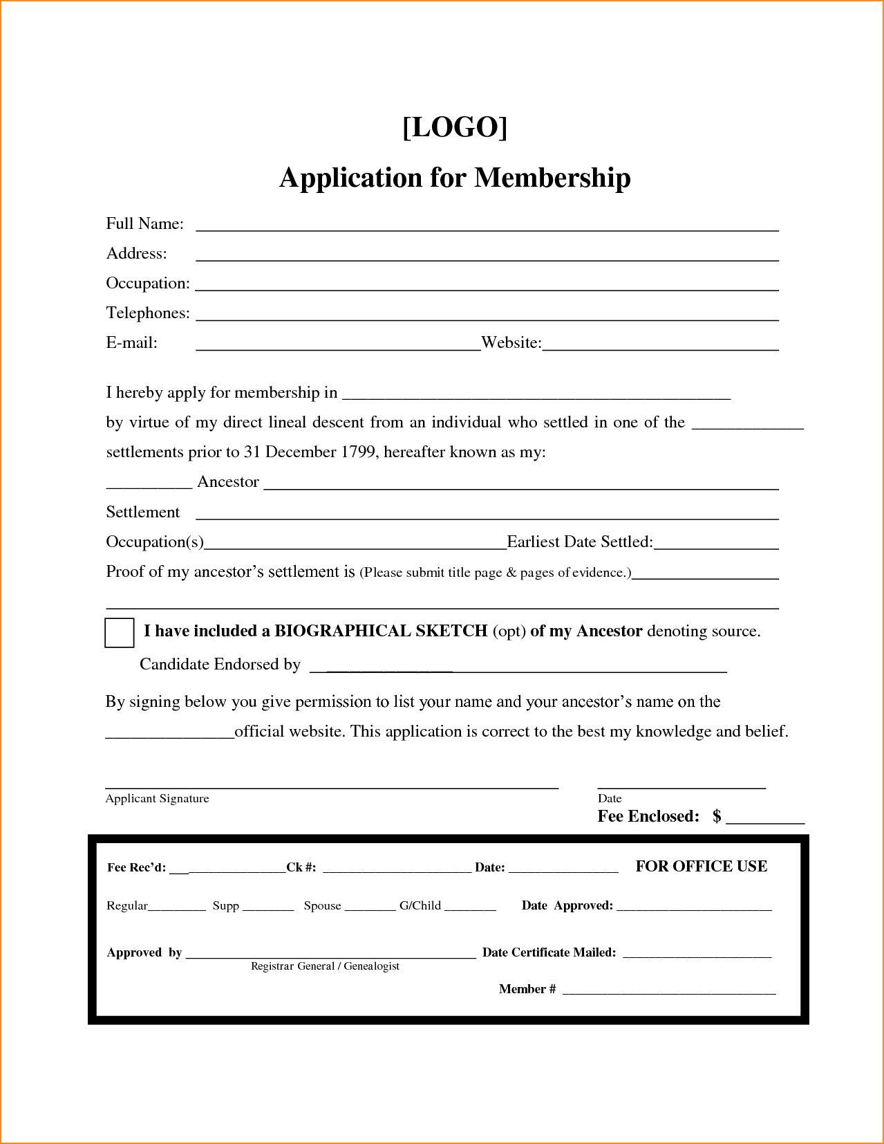 010 Printable Registration Form Templates Word Excel ...