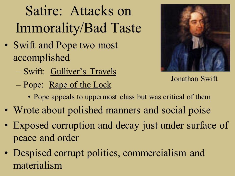 Satire Jonathan Swift Alexander Pope Wrote About Polished
