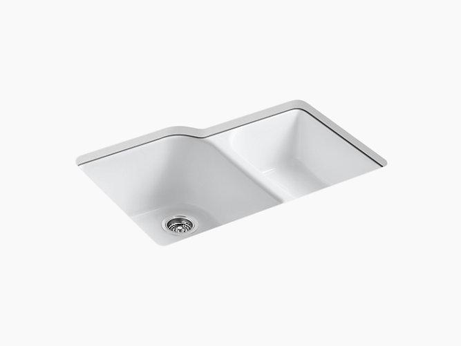 Executive Chef Undermount Kitchen Sink W Four Holes K 5931 4u Kohler Kohler Double Bowl Kitchen Sink Sink Kohler