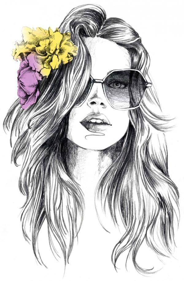 Summer waves with a splash of color #pencilart #flowers #groovy (photo credit Lutheen)