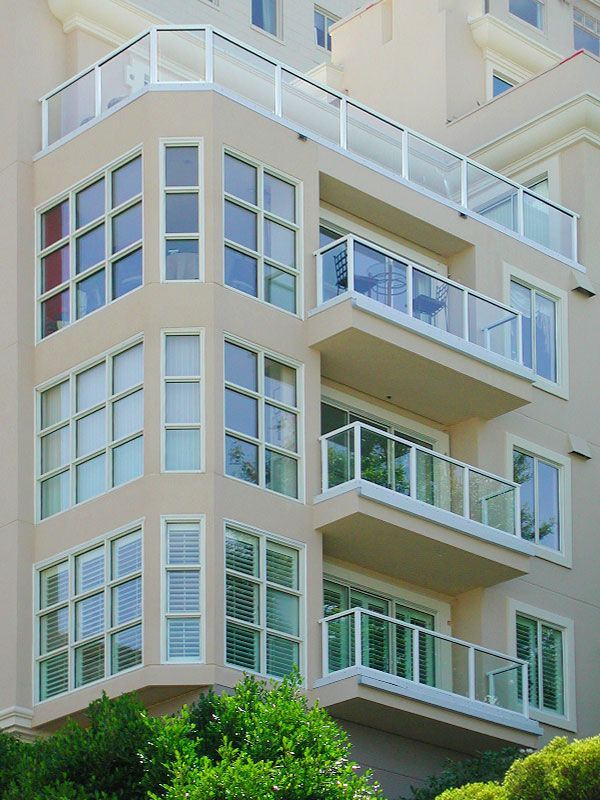 Glass Infill Photo Gallery: DesignRail® Aluminum Railing With Glass Infill In Multi-residential Setting