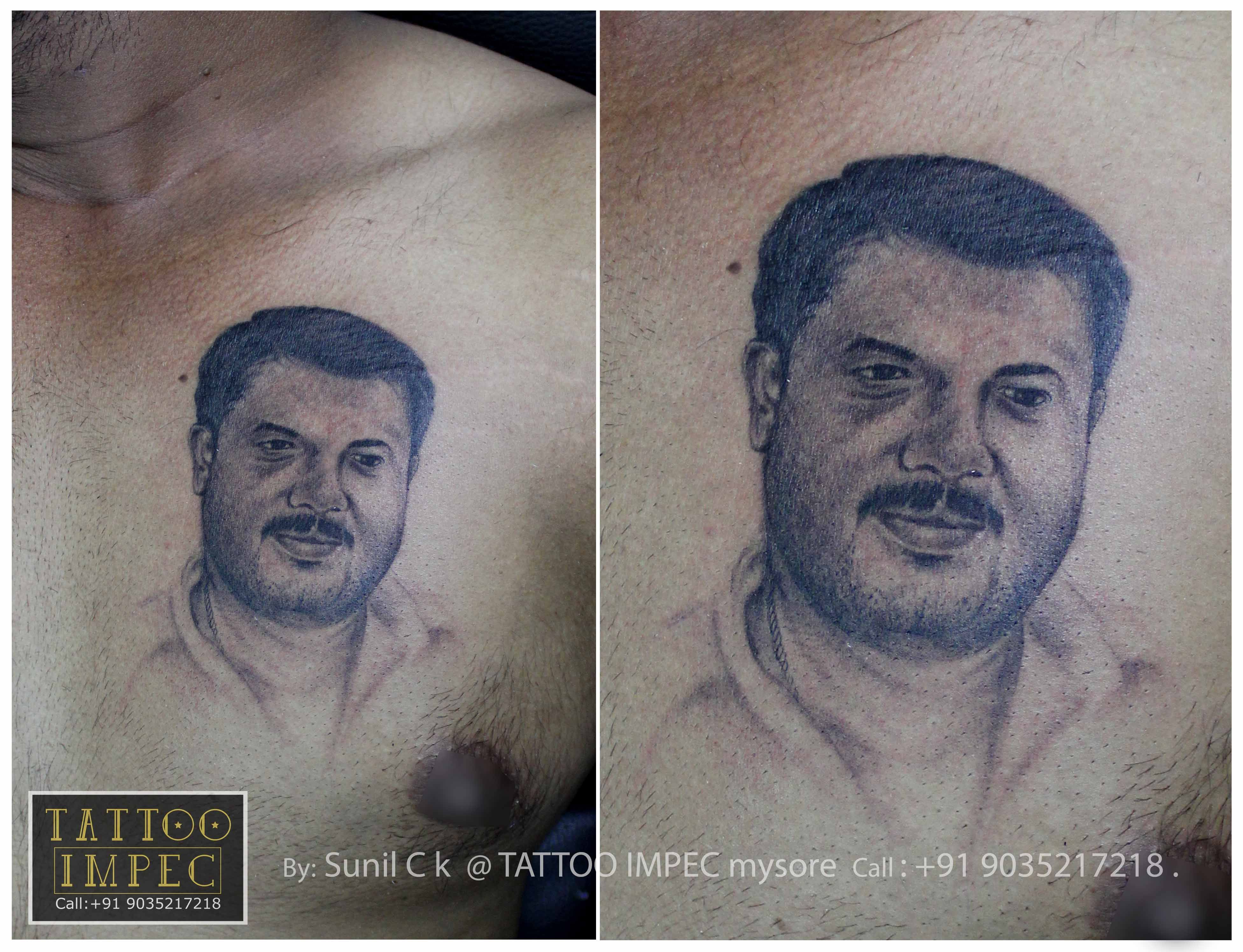 # Portrait tattoo # ;) Get inked from Experienced Tattoo Professional.. Call: Sunil Ck @ +91 9035217218 to book your appointment.  www.facebook.com/tattooimpec