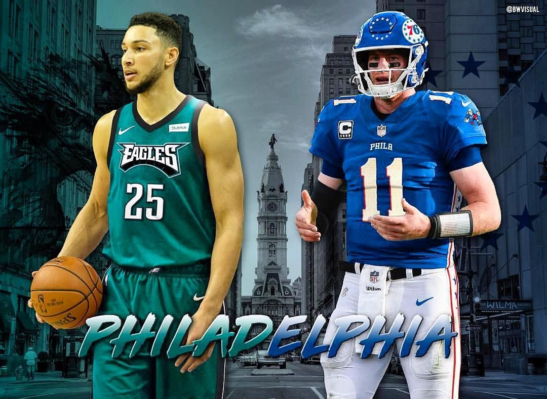 08c8f49a9 How do you like this Eagles Sixers jersey swap  Eagles  FlyEaglesFly  Sixers