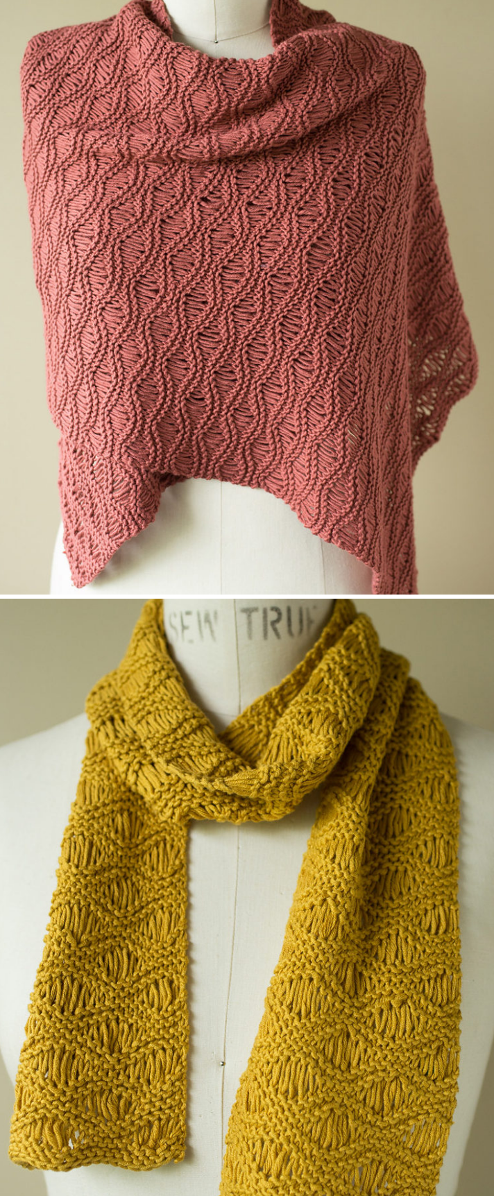 Free Knitting Pattern for Seafoam Scarf & Wrap - Classic dropped ...