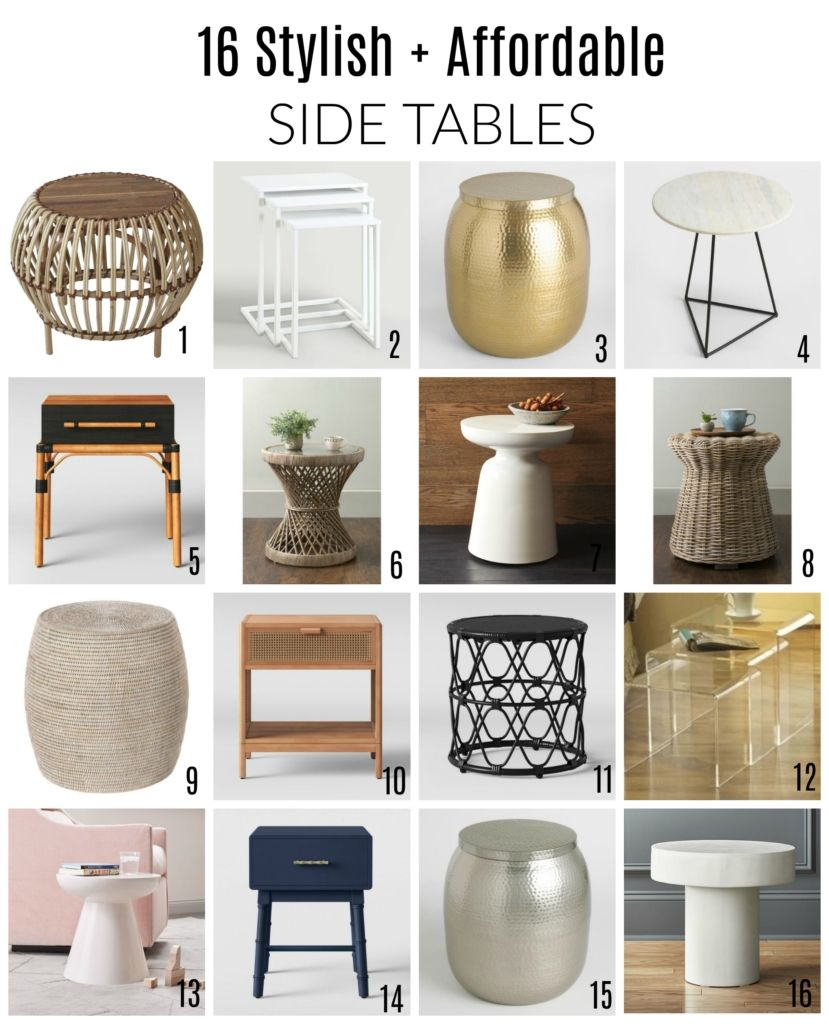 16 Stylish Affordable Side Tables I Am Loving Right Now Table