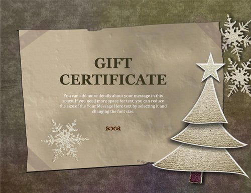 Old-paper-Christmas-gift-certificate Christmas Pinterest - christmas gift certificates free