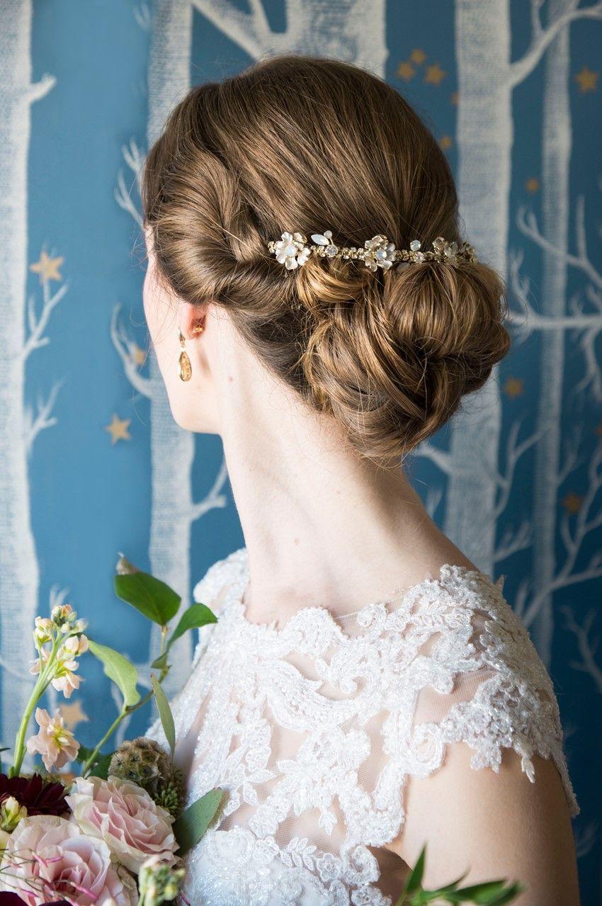 Pretty Pastel Art Nouveau Wedding Inspiration | Elegant wedding hair, Wedding hairstyles ...