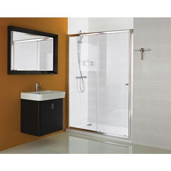 Haven Sliding Door 1600mm Chrome Roman H2s16cs Shower Doors Sliding Shower Door Shower Enclosure