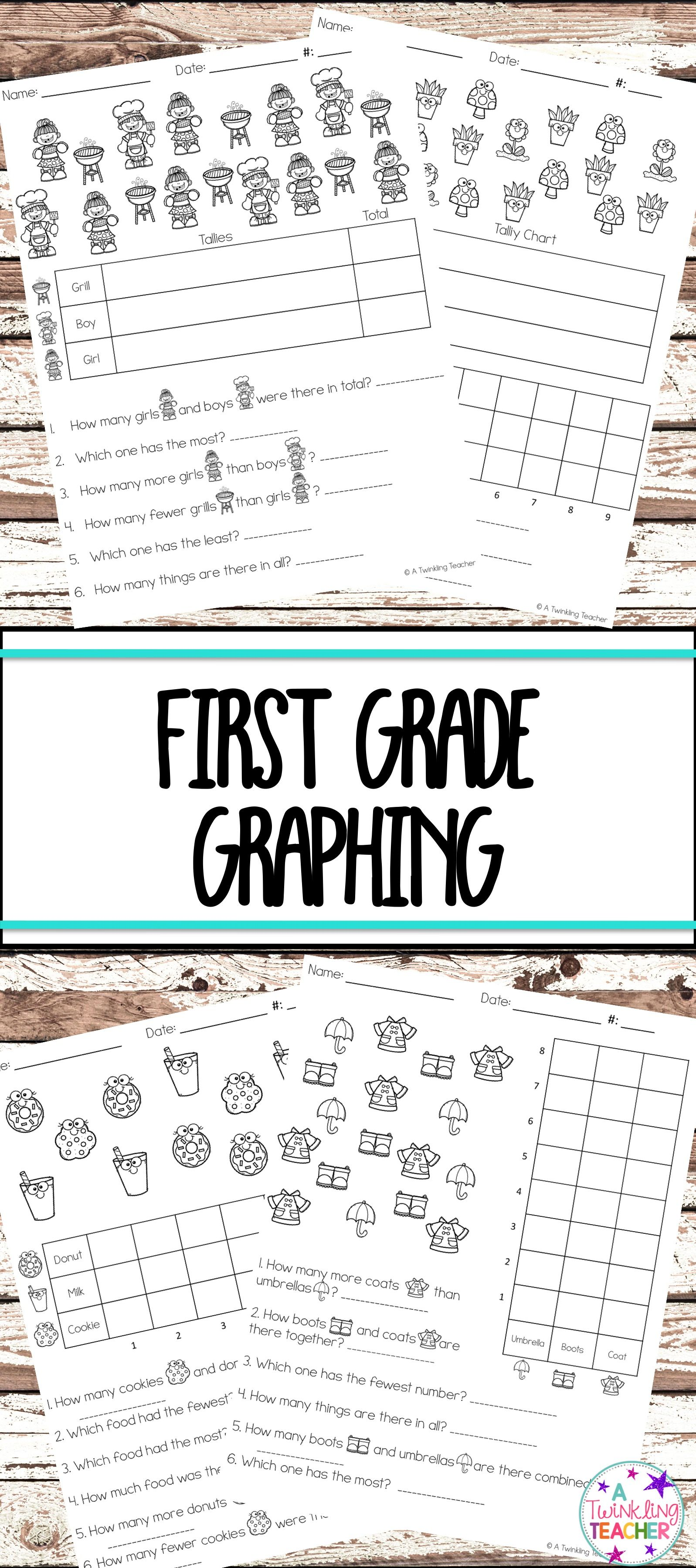 First Grade Graphing Practice With Tally And Graphing