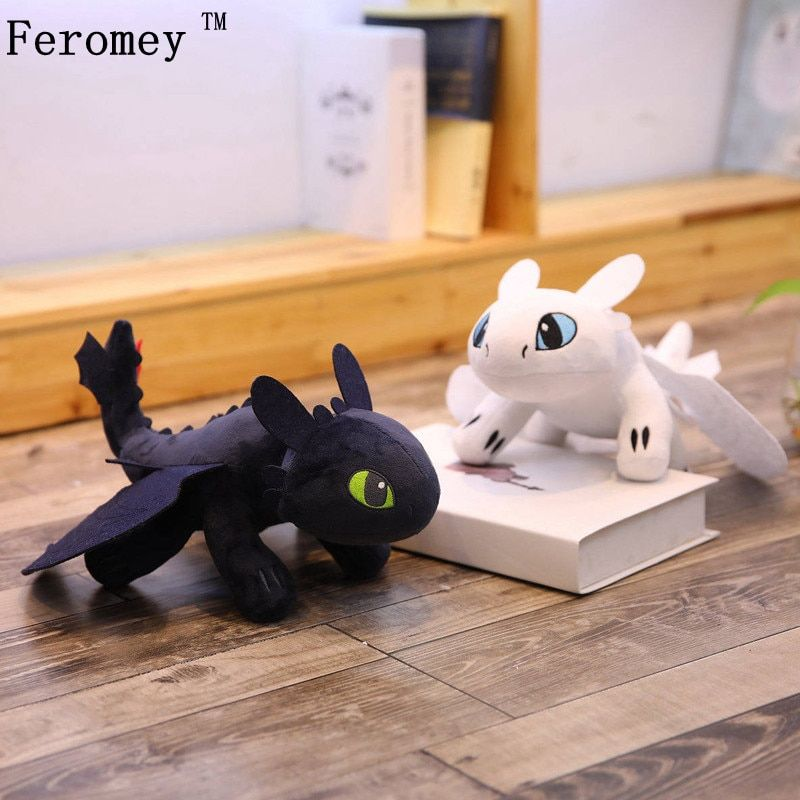 How To Train Your Dragon 3 Doll Toy Light Fury Toothless Stuffed Plush Kids Gift