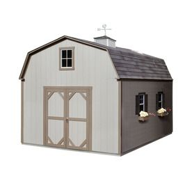 Shop Heartland 12 X 16 X 11 6 Country Manor Wood Storage Building At Lowes C Wood Storage Sheds Shed Storage Shed