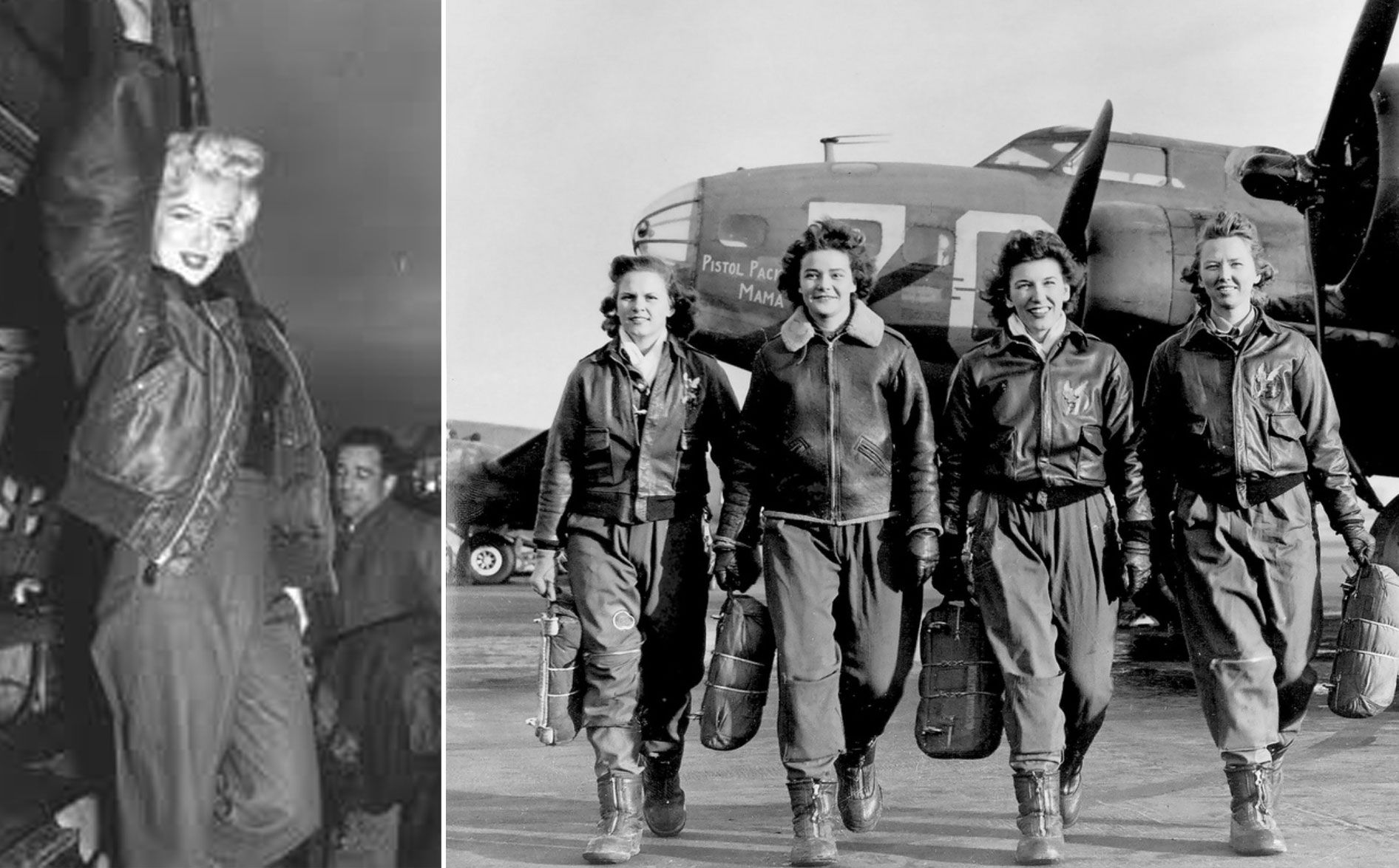 f425050b05 marilyn-monroe-bomber-jacket   Women at War   Women in History ...