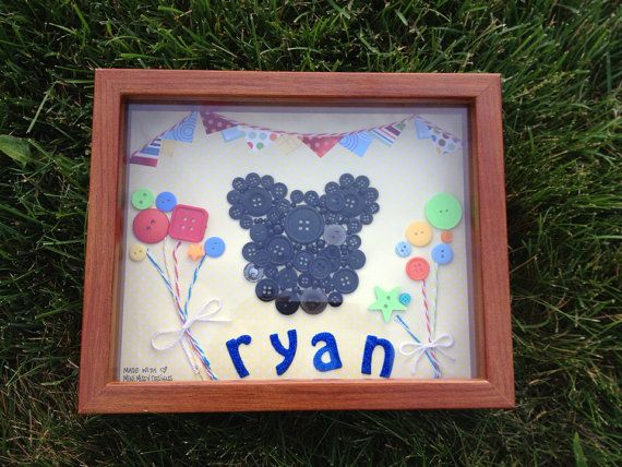 Custom Art Mickey Mouse Birthday Name Shadow by MiniMissyDesigns, $45.00