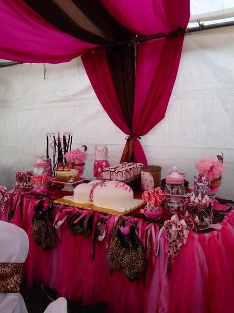 Pink/Cheetah Baby Shower Party Ideas | Photo 2 Of 16