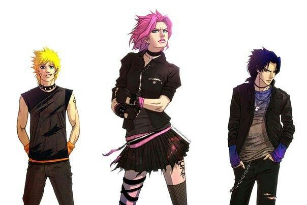 Modern Team 7 Wow Sasuke And Naruto Are Hot Sakura Sasuke Naruto Fan Art Cosplay Otaku