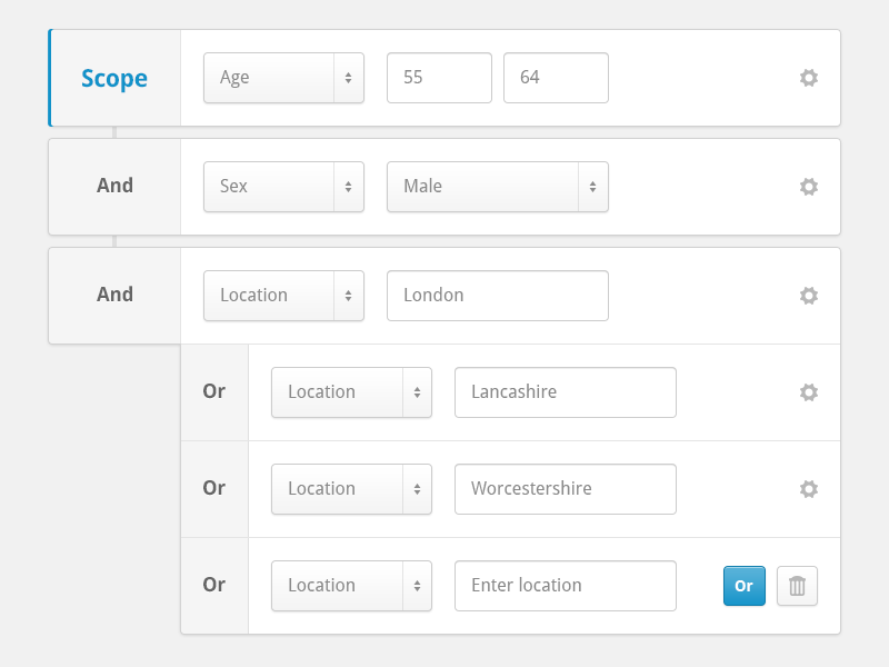 Query Builder (With User Flow) | User interface I like | User flow