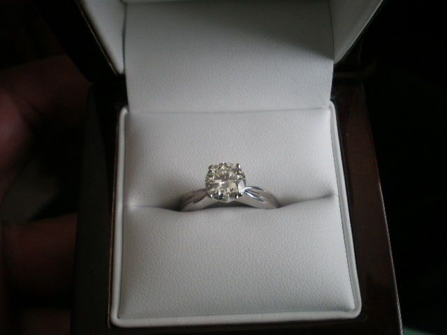1.20CT 14K White Gold SOLITAIRE DIAMOND RING, APPRAISAL 8,830$ #Solitaire