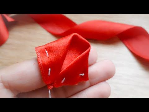 Amazing Ribbon Flower Work|Hand Embroidery Designs| Easy DIY Ribbon Flowers| Quicky Crafts - YouTube #ribbonflower