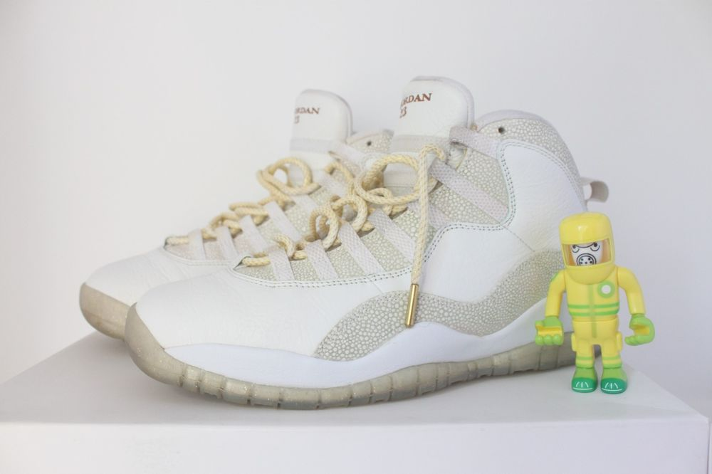 72cd465580ded9 eBay  Sponsored Air Jordan 10 Retro OVO White SZ 9 ix drake metallic gold  stingray 819955-100