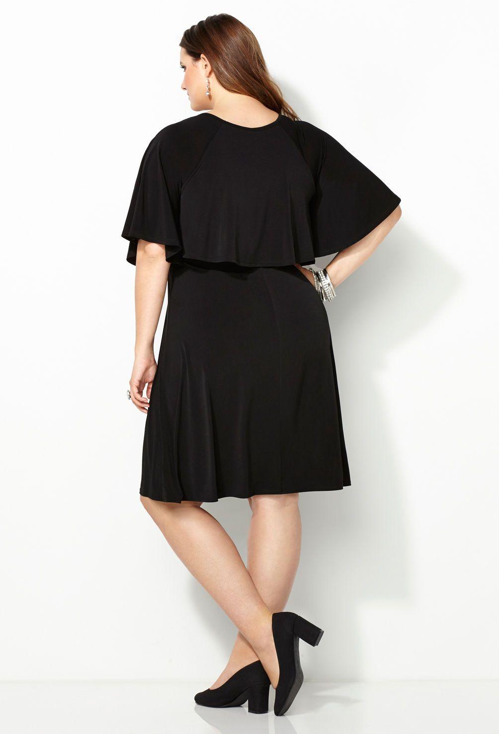 Studded Overlay Dress-Plus Size Dress-Avenue | Sarah Slick ...