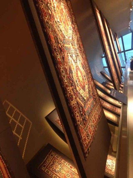 A Western Approach To Azerbaijani Carpets At Azerbaijan Carpet Museum In Baku Carpet Store Design Museum Architecture Carpet Stores