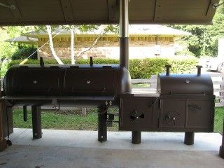 Outdoor Kitchen With Offset Smoker