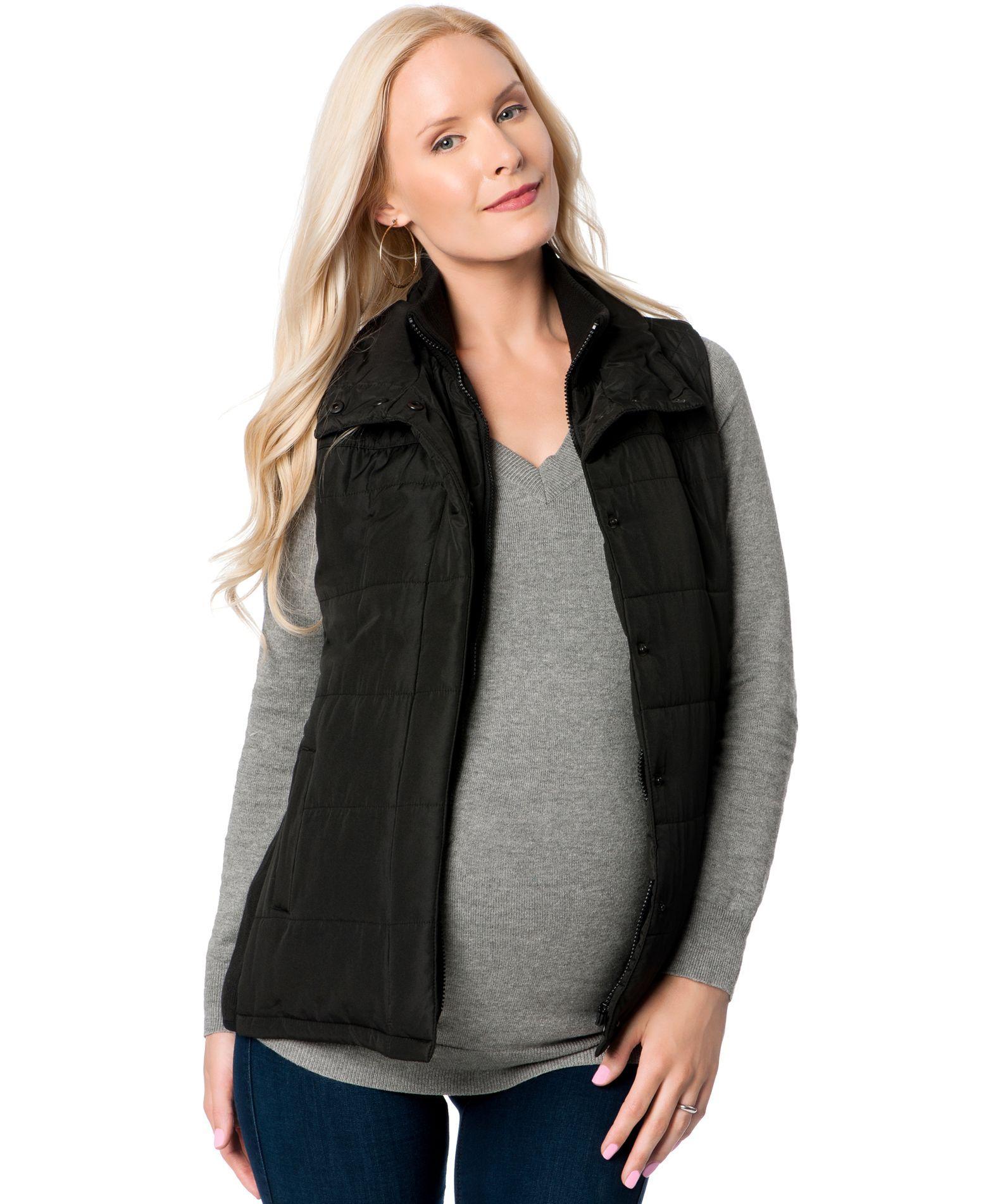 bef0c3b534324 Motherhood Maternity Puffer Vest   Products   Maternity vests, Vest ...